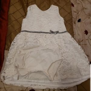Special occasion white laces carters dress 18m